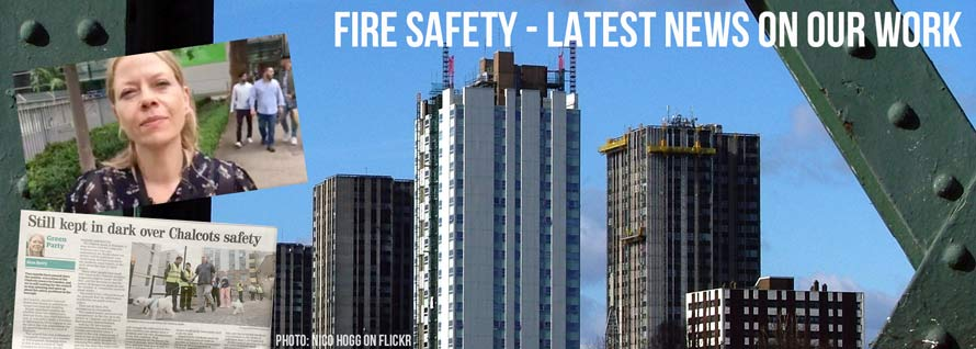 Fire safety - latest news on our work