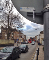 Tube in Highgate Village where pollution levels were double the legal limit