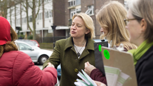 Natalie Bennett canvassing in Highgate