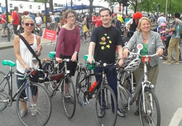 Natalie Bennett at the Space for Cycling rally